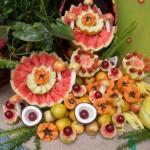 A grande vairedade de frutas tropicais encontradas no Brasil proporcionam as mais belas mesas.