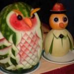 A beleza dos pratos e o colorido das frutas, sempre irão estimular uma boa alimentação.