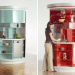 Cozinha ilha em formato arredondado, super moderna e com designe avançado.