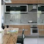 Cozinha com pequenos objetos, mas com grande resultado.