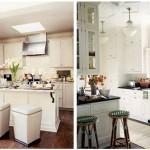 Cozinhas pequenas podem ser muito funcionais e bonitas.