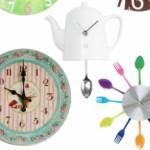 Relógios de parede criativos, modelos ideais para cozinha.