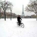 Inverno em Paris, paisagem maravilhosa.