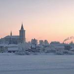 Finlândia é coberta de neve cerca de quatro meses por ano.