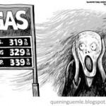 Expressão de pânico com os preços altos.