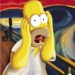 Homer Simpsons também tem sua participação na releitura da obra.