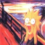 Sarah Simpsons também protagoniza a pintura.