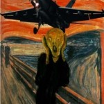 O pânico aéreo também pode ser retratado com a obra.