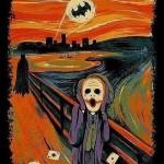 """""""O Grito"""" releitura com o Batman e o Coringa."""