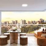 Com os móveis pequenos e adequado ao ambiente, a varanda fica aconchegante e ao mesmo tempo muito elegante.