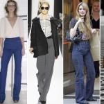 As mulheres mais do que nunca usavam calças de cintura alta, terninhos e roupas que refletiam a sua entrada em cargos empresariais antes ocupadas apenas pelos homens. (Foto: divulgação)