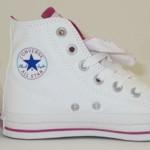 All Star  Converse botinha branco com rosa. (Foto: divulgação)
