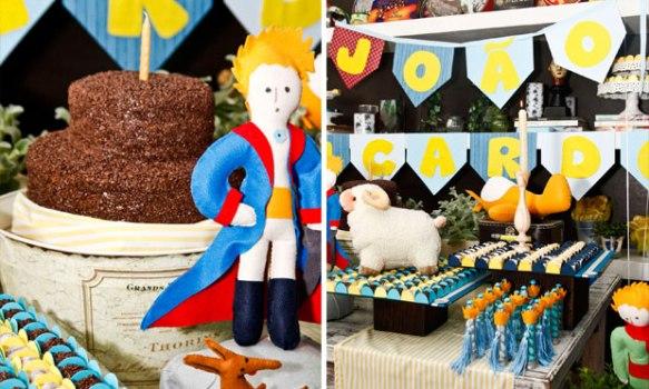 O Pequeno Príncipe é um tema perfeito para comemorar o aniversário do menino.
