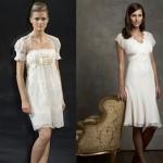 As noivas mais clássicas podem optar por vestidos brancos na altura dos joelhos. (Foto: divulgação)