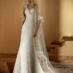 O vestido de noiva de inverno provavelmente deve ter mangas compridas ou meia manga. (Foto: divulgação)