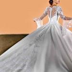 Os vestidos de manga longa (e, ou mangas 3/4) são muito usados  por  noivas de príncipes e celebridades internacionais. (Foto: divulgação)