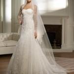Vestidos com tafetá e tuli são modelos vintage que deixam a noiva sofisticada e elegante. (Foto: divulgação)