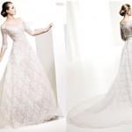 Os modelos de vestido de noiva com manga longa, deixam a noiva ainda mais linda, parecendo uma princesa de verdade, é simplesmente um encanto. (Foto: divulgação)
