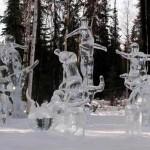 Esculturas de gelo ao ar livre, (Fotos: divulgação)