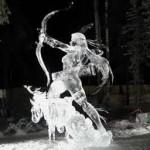 Mulher guerreira feita de gelo. (Foto: divulgação)