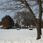 No inverno a cidade muda a paisagem, perde o colorido por causa da neve que cobre tudo de branco. (Foto: divulgação)