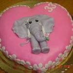 """Bolo personalizado """"Elefante"""" (Foto: divulgação)"""