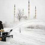 Moscou com temperatura de -26°C (Foto: divulgação)