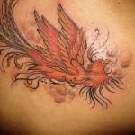 Tatuagem de fênix - A lenda diz que apenas uma fénix podia viver de cada vez (Foto: divulgação)