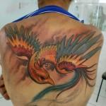 Tatuagem de fênix - No cristianismo, a fénix renascida tornou-se um símbolo popular da ressurreição de Cristo. (Foto:divulgação)