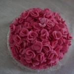Bolo rosa decorado estilo hortência (Foto: divulgação)