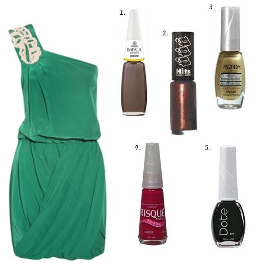 Vestido verde. (Foto:Divulgação)