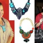 Os colares coloridos são ideais para produções mais alegres.