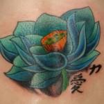 Tatuagem de flor de lótus verde (Foto:divulgação)