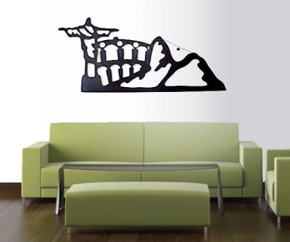 A escultura de parede concede um ar diferente ao espaço. (Foto: Divulgação)
