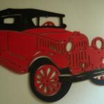 Escultura de parede de carro. (Foto:Divulgação)