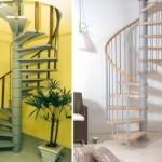 A escada caracol é viável principalmente em ambientes pequenos. (Foto:Divulgação)