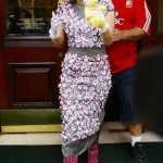 Lady gaga com vestido de flores (Foto: divulgação)