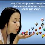A atitude de aprender...(Foto: divulgação)