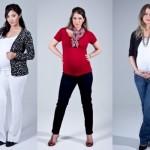 Existem marcas especializadas na moda gestante, como a Zazou. (Foto:Divulgação)