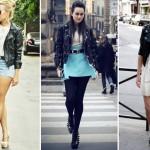 Shorts, saia ou vestido, tudo fica bem na moda rock.