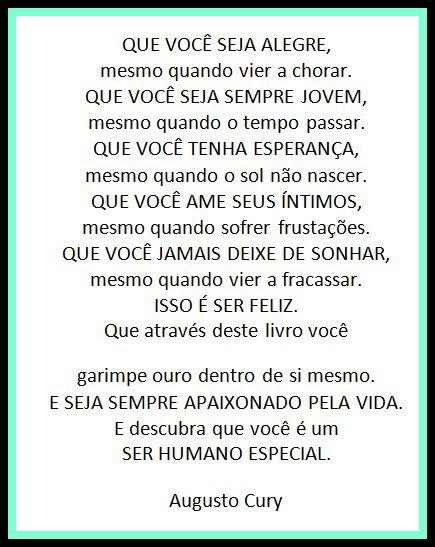 Mensagens De Augusto Cury Para Facebook