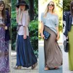 A saia longa não pode faltar no guarda-roupa da mulher vaidosa e elegante.  (Foto:Divulgação)
