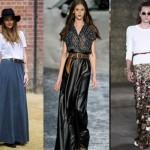 As saias longas permitem montar um look mais casual ou formal. (Foto:Divulgação)