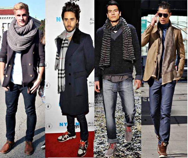 Maneiras de usar cachecol masculino.