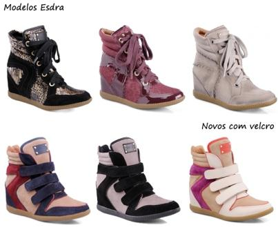 A marca Esdra possui vários modelos de Sneakers nos mais diversos preços.(Foto: Divulgação)