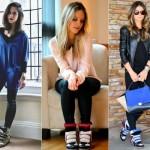 Os sneakers combinam principalmente com calças legging. (Foto:Divulgação)