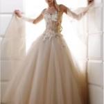 Vestido de noiva romântico rosa chá (Foto: divulgação)