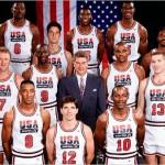 """Contando com Michael Jordan e Magic Johnson, entre outros grandes jogadores, o time de basquete dos EUA nas Olimpíadas de 1992 ficou conhecido como """"Dream Team"""", o time dos sonhos.(Foto: Divulgação)"""
