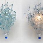 Luminária de garrafa pet (Foto: divulgação)