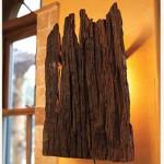 Luminária de casca de eucalipto (Foto: divulgação)